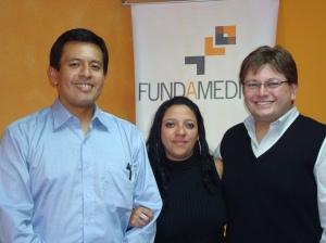 (i-d) Abel Suing, Paola Aguilar y Mauricio Alarcón.
