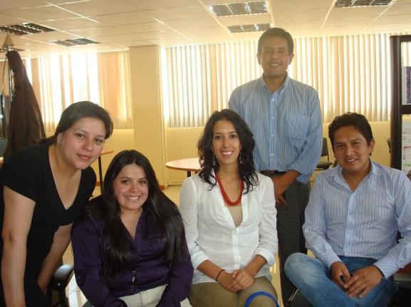 (i-d) Verónica González, Catalina Mier, Jacqueline Gaybor, Abel Suing y Carlos Ortiz.
