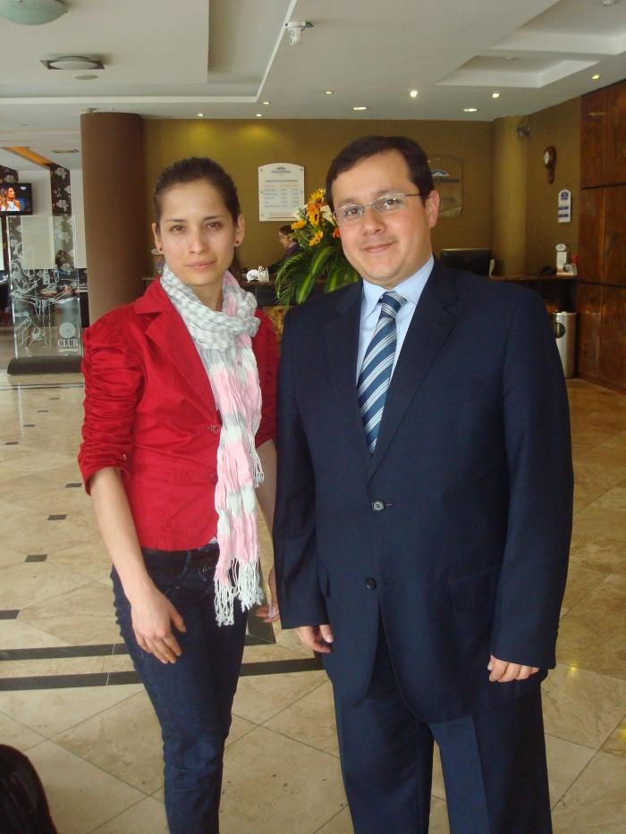 (i-d) Diana Rivera y Raúl Cedeño.